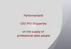 on the supply of professional sales peopl